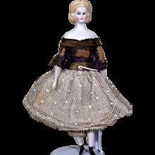 Unusual Dollhouse Parian Doll