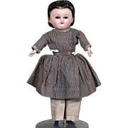 Small A/0 Wax over Papier Mache Doll with Great Hairdo