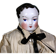 Uncommon Brown-Haired China Boy with Side part and Early Look ~ 10 inches