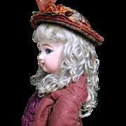 Rembrandt Dark Ash Blond Mohair Wig ~ Size 8-9