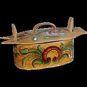 19th Century Norwegian Decorated Tine/Spevash Box