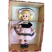 "Vogue 1955 Molded Lash Ginny Doll Series ""And Away We Go""  #55 Mint In Box."