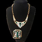 McClelland Barclay Vintage Art Deco Necklace and Brooch