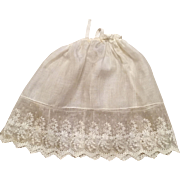 Antique Embroidered Doll Slip
