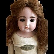 "22"" German Bisque Shoulder Head Doll Marked Darling"