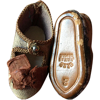 Early Bebe Jumeau Depose  Shoes Size 2
