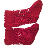 Tiny Red Open Weave Silkie Doll Stockings