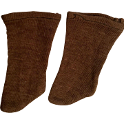 Brown Cotton Doll Stockings