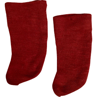 Red Cotton  Doll Stockings