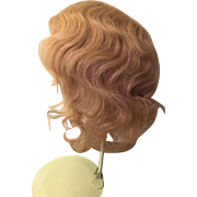 Extra Large Blonde Human Hair Doll Wig