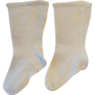 Large White Doll Stockings for French or German Doll