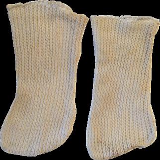 White French/German Doll Stockings