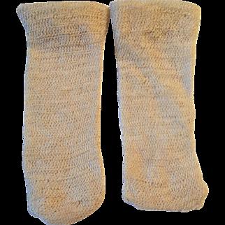 Off White Jumeau Doll Stockings