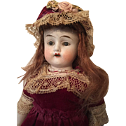 "Large 9"" All Bisque German Doll #7547"