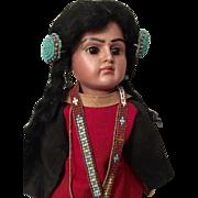 "13"" Bahr & Proschild Scowling Native American Belton Doll #244"