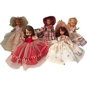 Five Nancy Ann Storybook Dolls