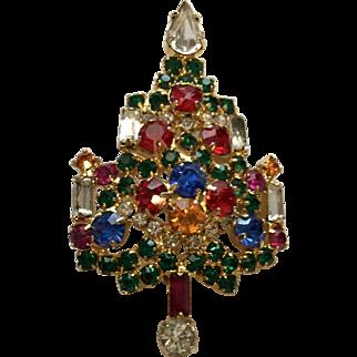 Warner Christmas Tree Pin/Brooch