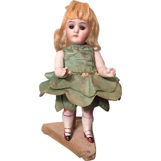 All Original Bisque German Doll Marked  620 5.5""