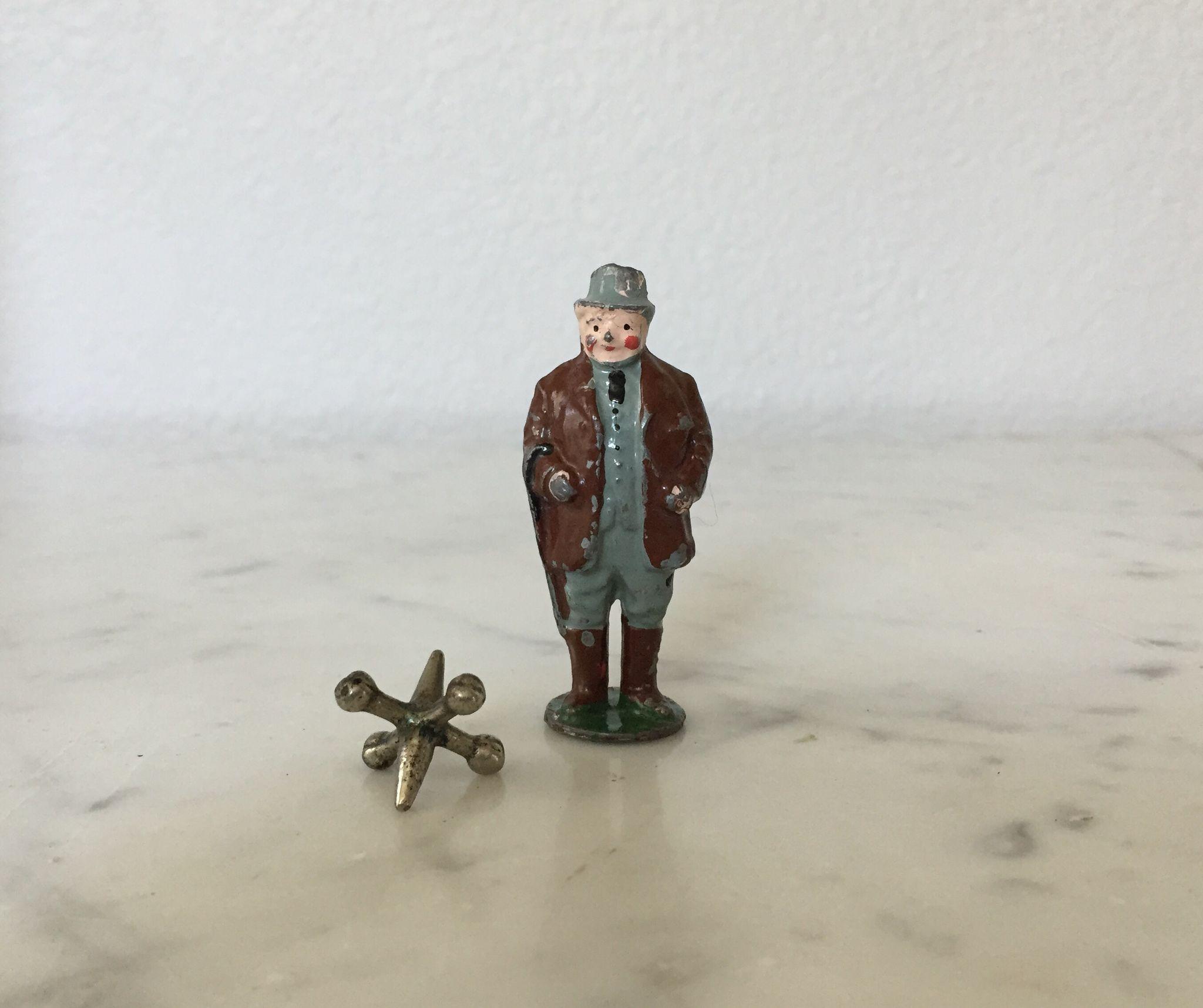 Great Vintage Lead Dapper Gentleman with Cane Toy Soldier Figurine