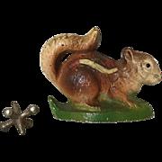 Great Vintage Hubley Cast Iron Squirrel or Chipmunk Bottle Opener Paperweight