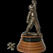 Charming Vintage 1948 Softball Baseball Trophy YMCA City League