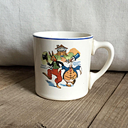 Wonderful Vintage 1924 Uncle Wiggily Ovaltine Advertising Children's Pottery Mug