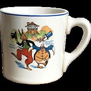 Wonderful Vintage 1924 Uncle Wiggily Ovaltine Advertising Children's Pottery Mug