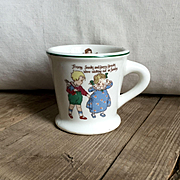 Adorable Old Warwick Pottery Nursery Rhymes Children's Mug