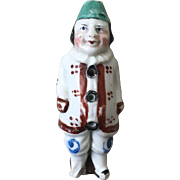 RESERVED FOR PENNY Wonderful Antique Staffordshire Heavy Porcelain Jester Clown Whistle