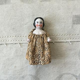 Beautiful Antique Pink Tint German Frozen Charlotte China Doll