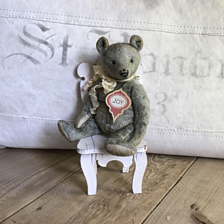 Charming Small Antique Style Mohair Teddy Bear by Vivianne Galli