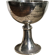 Handsome 1933 Tiffany & Co. Sterling Silver Nautical Presentation Loving Cup Trophy