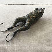 Great Antique 1905-1910 Pflueger Satin Cork Frog Fishing Lure