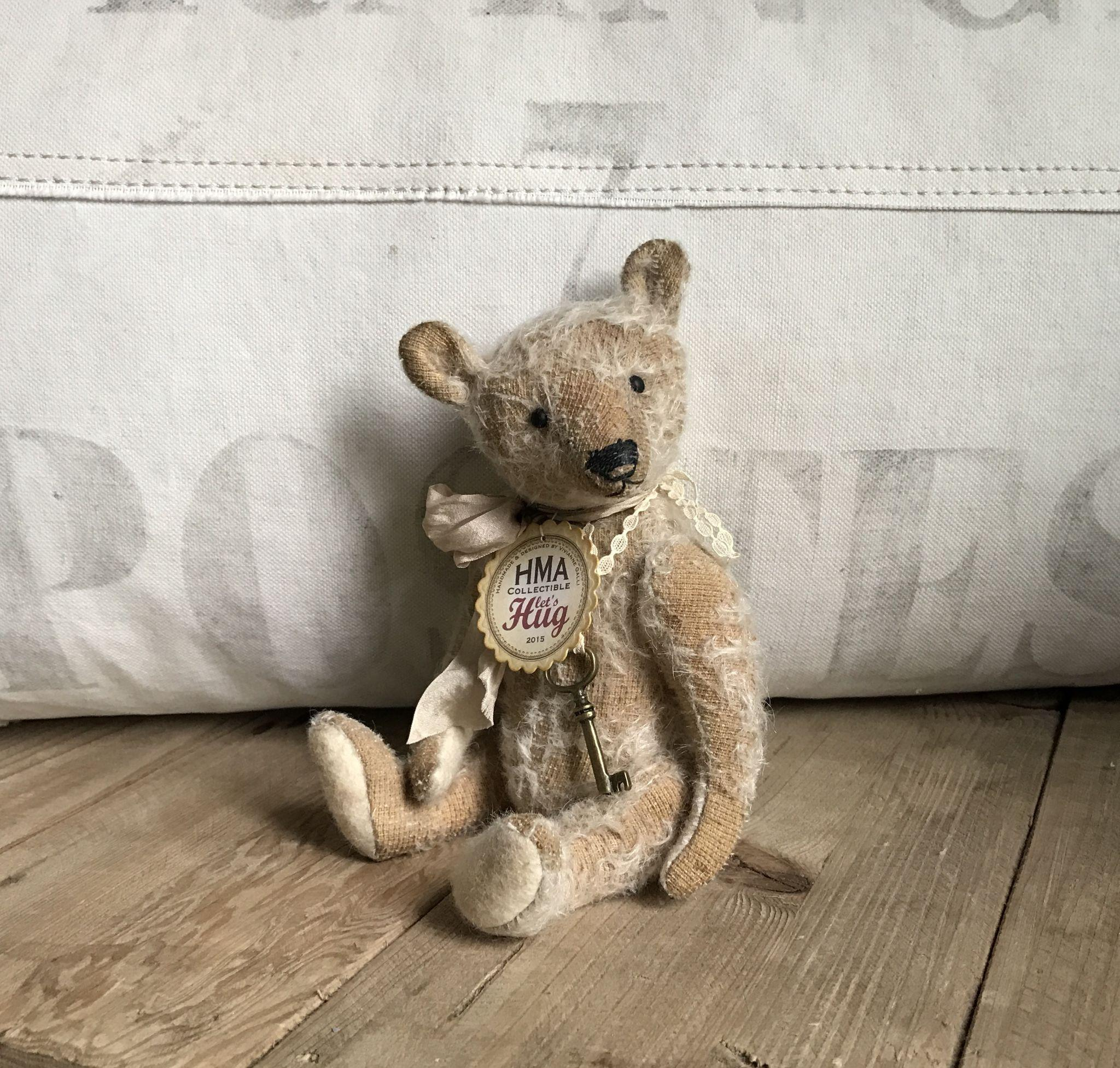 Charming Antique Style Mohair Teddy Bear by Vivianne Galli