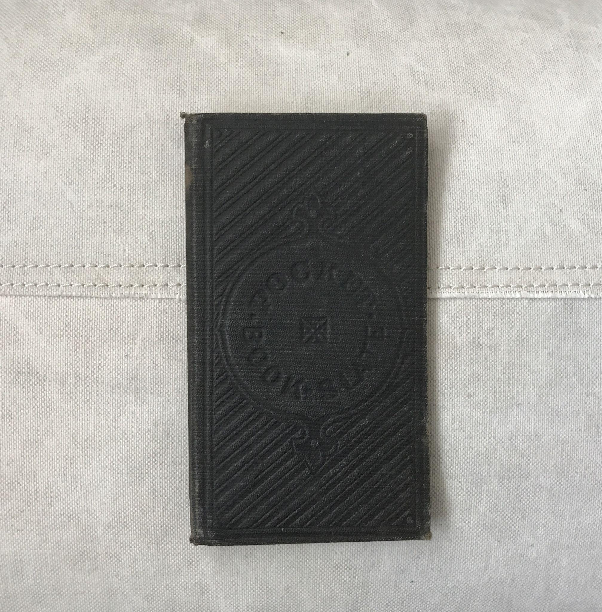 Wonderful 1852 Children's Pocket Book Slate Student Black Board
