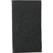 Wonderful 1852 Children's Pocket Book Slate Student Black Board