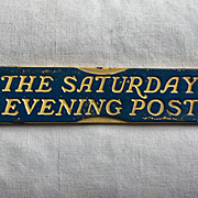 Old Cast Iron THE SATURDAY EVENING POST Magazine Advertising Newsstand Paperweight