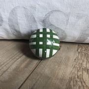 Attractive Small Antique Ceramic Scottish Carpet Bowling Ball Green Stripe
