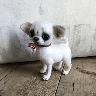 Absolutely Adoarable Hand Felted Chihuahua Dog by Yulya Martinova
