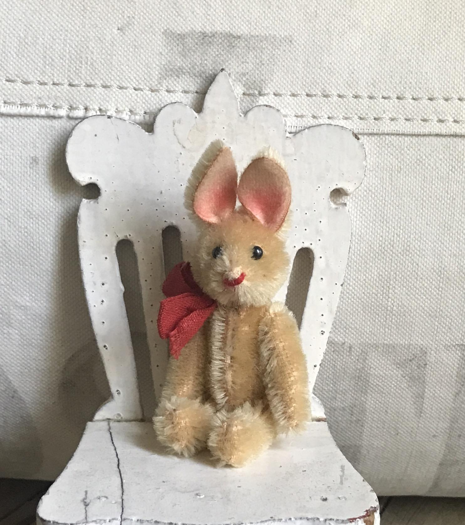 Charming Old Schuco Gold Mohair Jointed Teddy Bear Rabbit