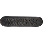Wonderful Old Cast Iron Newspaper Newsstand Advertising Paperweight