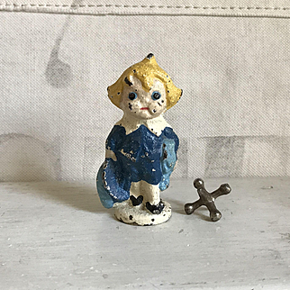 Adorable Old Little Lord Fauntleroy Cast Iron Paperweight