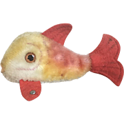Charming Vintage Steiff Mohair and Felt Fish