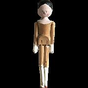 Charming Old Handmade Wooden Peg Doll
