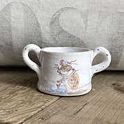 Wonderful Faience Style Pottery Handled Cup by Julie Whitmore Nautical Mouse