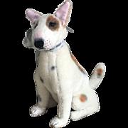 Charming Handmade Mohair Bull Terrier Dog by Diane Sherman