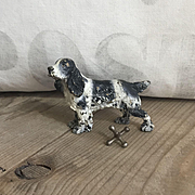 Wonderful Old Vienna Austrian Bronze Springer Spaniel Dog Paperweight Figurine
