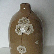 Vintage Hand Painted Japanese Stoneware Vase