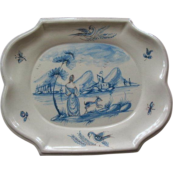 19Th Century Tin Glazed Earthenware Platter