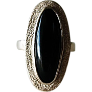Custom Made / 10K YG  Black Onyx Ring